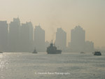 Early morning over the Huangpu River from the Bund, Shanghai.